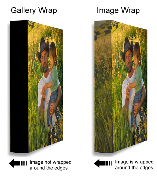 Image wrap or solid sides ez canvas