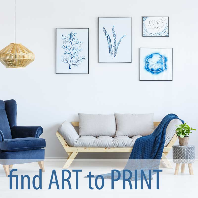 Find art and fine art photography you can print on canvas to decorate your home or office.