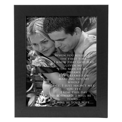 Framed Wedding Vow Photo Print EZ Canvas