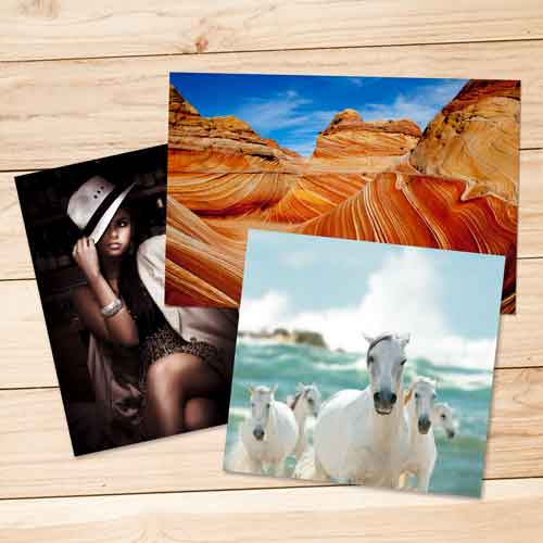 Order standard photo printing servcies on glossy, matte, lustre, and metallic surfaces, printed or Kodak Professional or Endura papers.